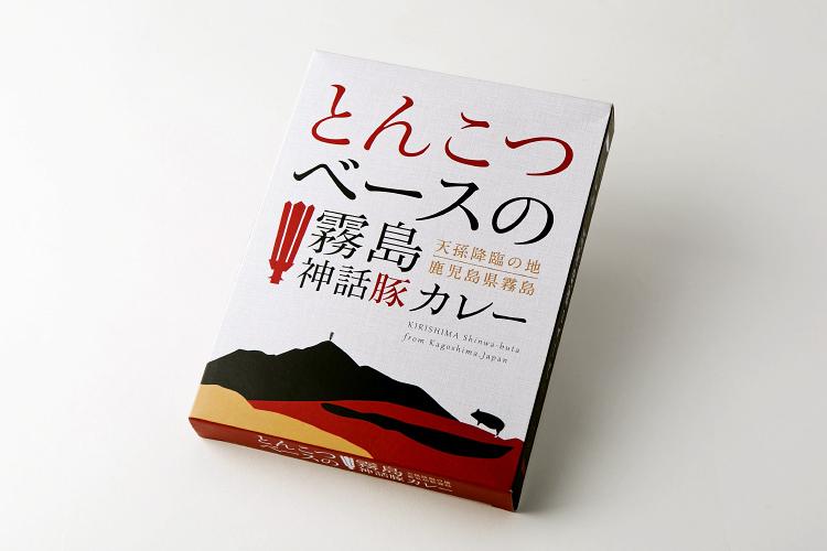 【パッケージデザイン】とんこつベースの霧島神話豚カレー