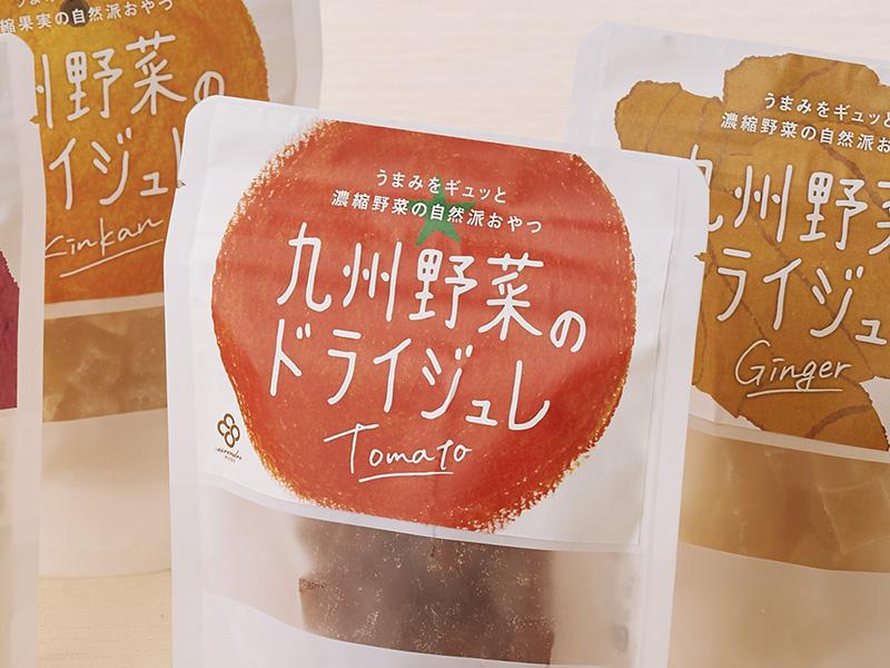九州野菜のドライジュレ:パッケージデザイン