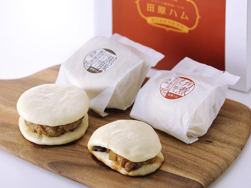 角煮まんじゅう・黒豚バーガー:パッケージデザイン